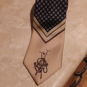 % 100 silk Polo tie